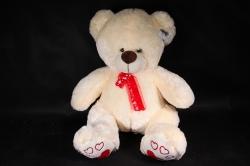 Мягкая игрушка Медведь с бантом шампань   АГ-4367/50