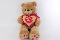 Мягкая игрушка - Медведь с сердцем - бежевый 48см - Код 1073/48