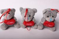 Мягкая игрушка мишка с сердцем (3шт в уп) 2362д