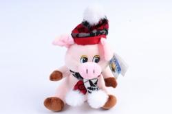 Мягкая игрушка Поросёнок в шапке и шарфике Д-19554/17