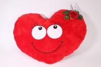 Мягкая игрушка - Сердце с глазами бол. (подушка) 2391  57х40см