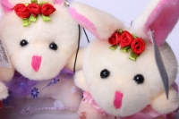 мягкая игрушка заяц (3шт в уп) цвета в ассортименте