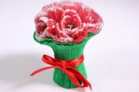 Мыло ручной работы Букет тюльпанов красных