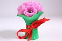 Мыло ручной работы Букет тюльпанов розовых