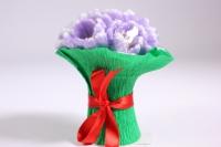 Мыло ручной работы Букет тюльпанов сиреневых