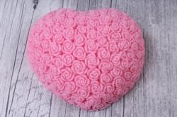 Мыло ручной работы Сердечко розовое 7,5x6,5 h=3cm