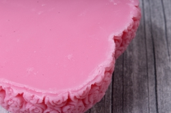 мыло ручной работы сердечко розовое