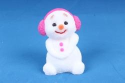 Мыло ручной работы Снеговик в наушниках