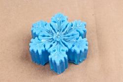 Мыло снежинка голубая