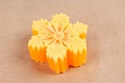 Мыло снежинка оранжевая