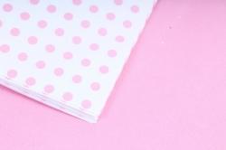 """Набор бумаги плотной, 10 листов 50*70см """"Горох"""" розовый"""