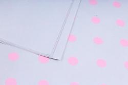 """Набор бумаги плотной, 10 листов 50*70см """"Горох"""" серый/розовый"""