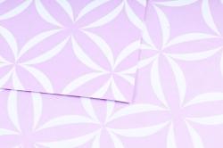 Набор бумаги плотной, 10 листов 50*70см Лепестки сиреневый