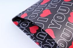 """Набор бумаги плотной, 10 листов 50*70см """"Love"""" черный (Н)"""
