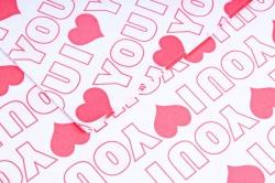 """Набор бумаги плотной, 10 листов 50*70см """"Love"""" красный (Н)"""