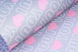 """Набор бумаги плотной, 10 листов 50*70см """"Love"""" серый/розовый (Н)"""