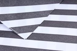 """Набор бумаги плотной, 10 листов 50*70см """"Полоса"""" черная полоса/белый фон"""