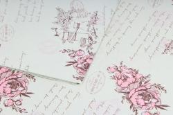 Набор бумаги плотной, 10 листов 50*70см  Прованс фисташка