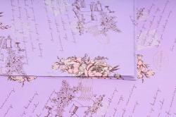 Набор бумаги плотной, 10 листов 50*70см  Прованс сиреневый