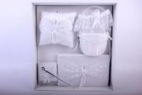 """Набор для росписи (подушка, ручка, подвязка, альбом, корзинка) """"Люкс"""" Белый 39х39см"""