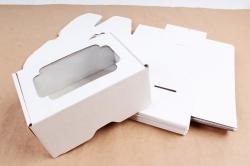 Набор (из 5шт) Коробка-трансформер с окном МГК белый,  F0.0-1