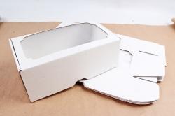 Набор (из 5шт) Коробка-трансформер с окном МГК белый,  F1.0