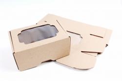 Набор (из 5шт) Коробка-трансформер с окном МГК крафт,  F0.1-1