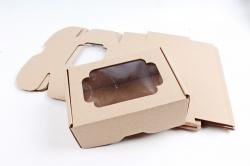 Набор (из 5шт) Коробка-трансформер с окном МГК крафт,  F0.1