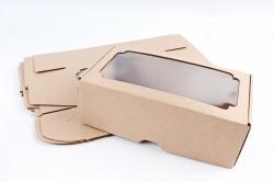 Набор (из 5шт) Коробка-трансформер с окном МГК крафт,  F1.1