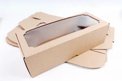 Набор (из 5шт) Коробка-трансформер с окном МГК крафт,   F2.1