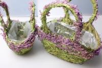 Набор кашпо корзины трава из 2-х шт 23х15х12см Разноразмерные