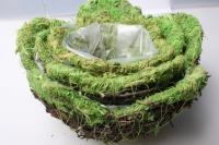 Набор кашпо корзины трава из 3-х шт 24х24х14см Разноразмерные