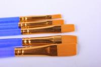 Набор кистей 5 шт., Cинтетика, плоские, № 1, 2, 3, 4, 5, европодвес: SB_3294