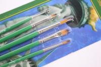 Набор кистей 5 шт., Синтетика, круглые №1, 3, 5, плоские №5, 8, европодвес: KSn_50902
