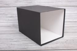 Набор коробок № 66 из 3шт - КУБ высокий Чёрный 18*18*25,5см Пин66-Ч