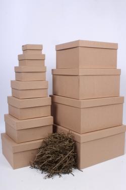 Набор коробок № 71 из 11шт - Квадрат Крафт 28,2*28,2*15см Пин71КР
