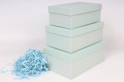 Набор коробок № 74 из 3шт - Квадрат Мята 23*16*9,5см Пин74-МЯ