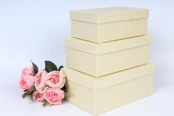 Набор коробок № 74 из 3шт - Квадрат Паглерино 23*16*9,5см Пин74-ПГ