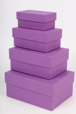 Набор коробок № 6 из 4шт - Прямоугольник Парма КТ 15*11*7см Пин06ПАР