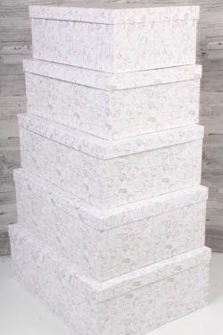 """Набор коробок № 3 из 5шт - Прямоугольные Прямоугольные штампы"""" 45см*35см*14см Пин03ШТ"""