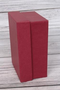 Набор коробок крафт из 4шт - Прямоугольник № 6 ЛЮКС Бордовый Малый 15см*11см*7см  Пин06/Люкс/Б