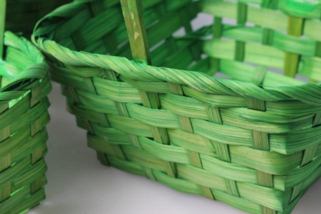 набор корзин (3шт) плетеные (бамбук) зеленые d=19х19, h=9/32см 8229