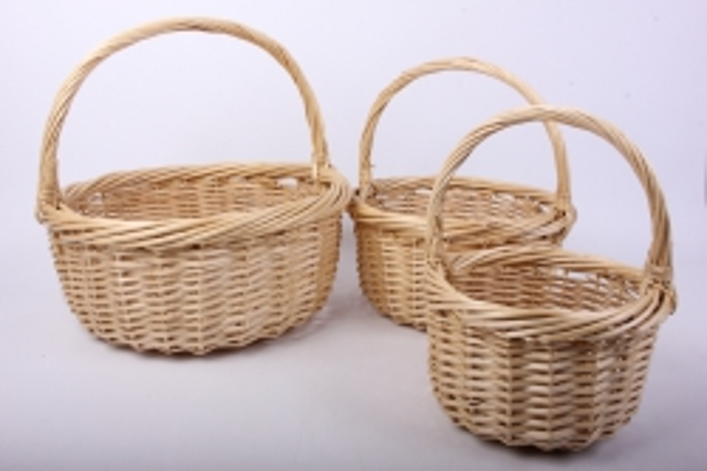 Набор корзин (из 3шт) плетеных (ива) Круг H12503