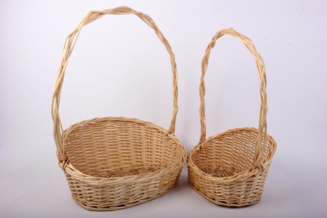 Набор корзин (из 3шт) плетеных (ива) Овал скос  H008