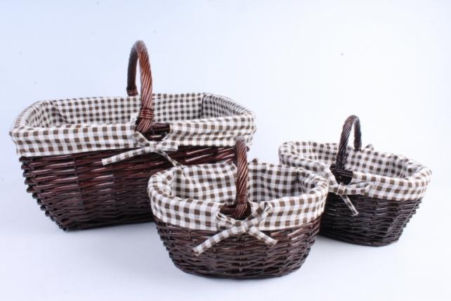 Набор корзин (из 3шт) плетеных (ива) - 3931