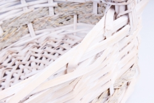 Набор корзин (из 3шт) плетеных (ива) Круг белый   КС-384