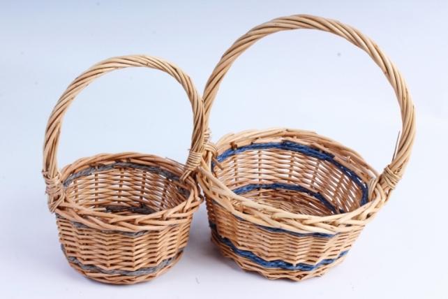 Набор корзин (из 2шт) плетеных (ива) Круг медовый    КС-099