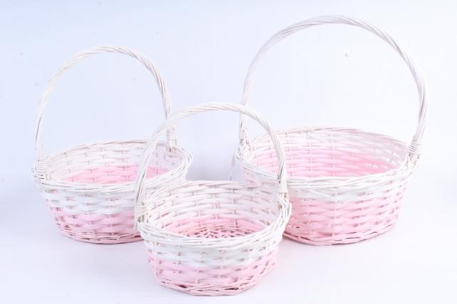 Набор корзин (из 3шт) плетеных (ива) Круг  D=31*H13*HH39см  КС-074