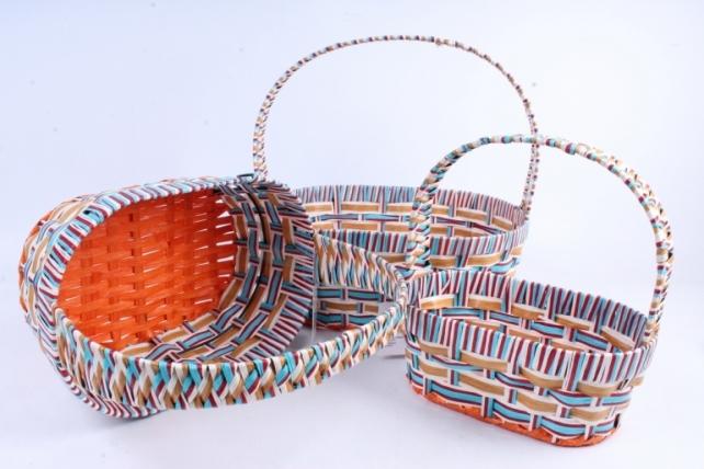 Набор корзин плетеных (ива) 3шт