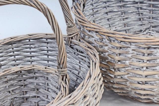 Набор корзин плетеных (ива) из 3шт - Круг   2526